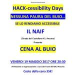 Cena al Buio 19 Aprile 2017 NAIF Ancona